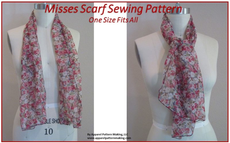 Ladies Scarf Sewing Pattern